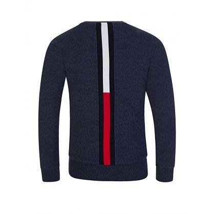Navy Striped Back Sweatshirt