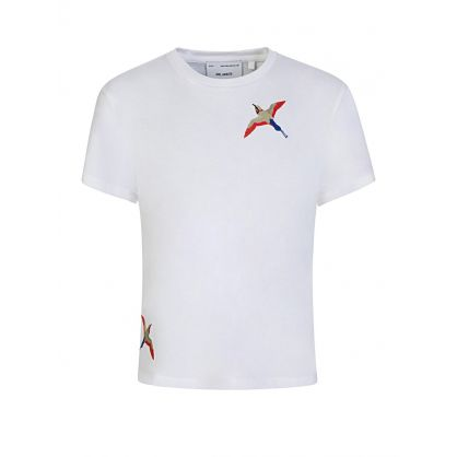 Kids White Tori Bird T-Shirt