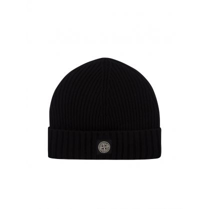 Junior Black Logo Beanie Hat