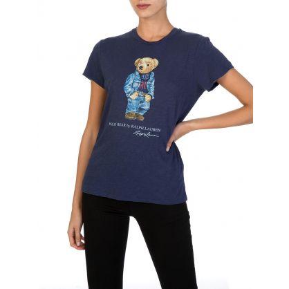 Navy Denim Bear T-Shirt
