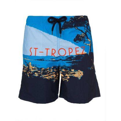 Junior Navy St Tropez Swim Shorts