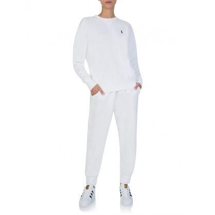 White Fleece Sweatpants
