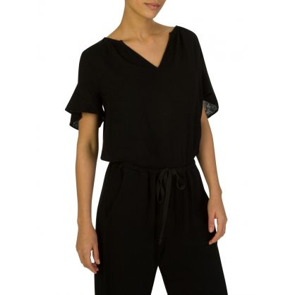 Black Julia Ruffle Blouse