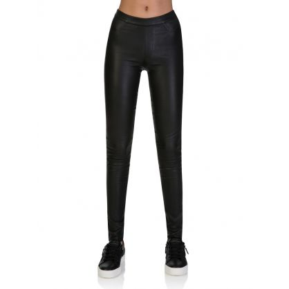 Black Leather Campbell Leggings