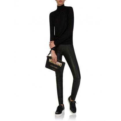 Black Leather Campbell Leggings