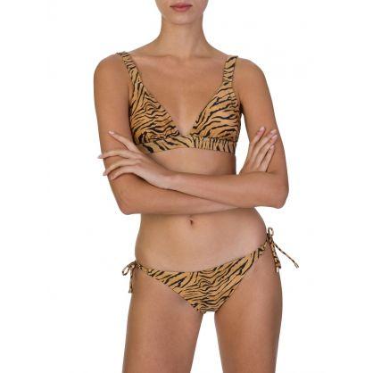 Paula Hermanny Tiger Print Bikini Top