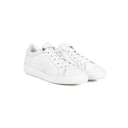 White Patterned Leni Trainers