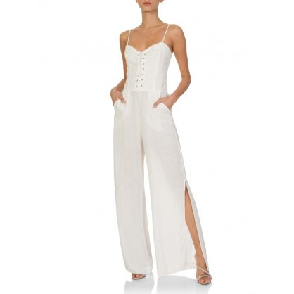 Paula Hermanny White Angela Jumpsuit