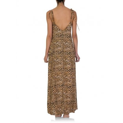 Paula Hermanny Tiger Print Dress
