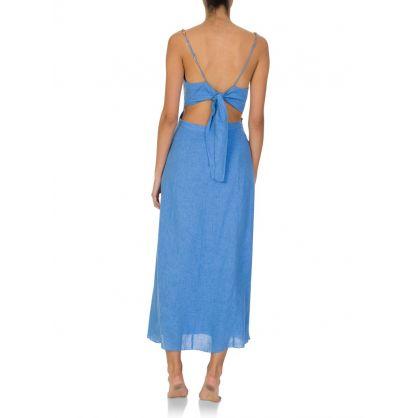 Paula Hermanny Blue Connie Midi Dress