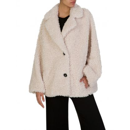 Cream Faux Fur Merilyn Jacket