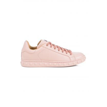 Pink Leather Fifi Trainers