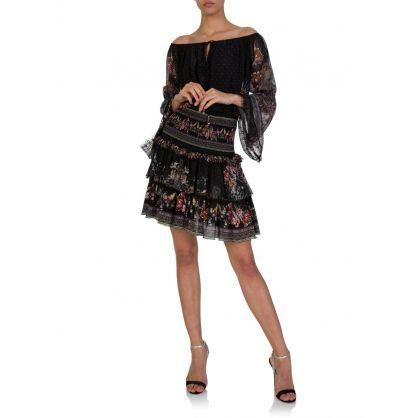 Black Restless Nights Layered Skirt