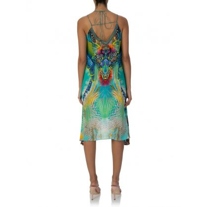 Blue Reef Warrior Strappy Flare Dress