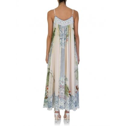 Beach Shack Lace Up Maxi Dress