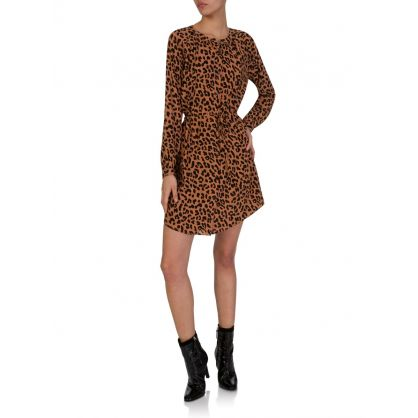 Brown Bella Jaguar Print Dress