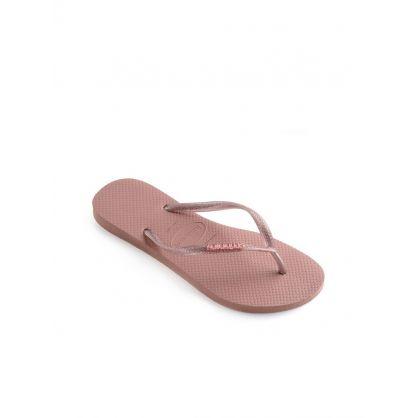 Rose Glitter Slim Flip-Flops