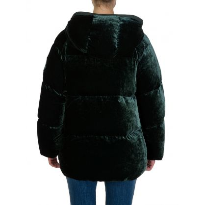 Green Velvet Down Butor Jacket