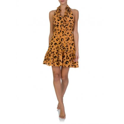 Orange Leilani Leopard Mini Dress