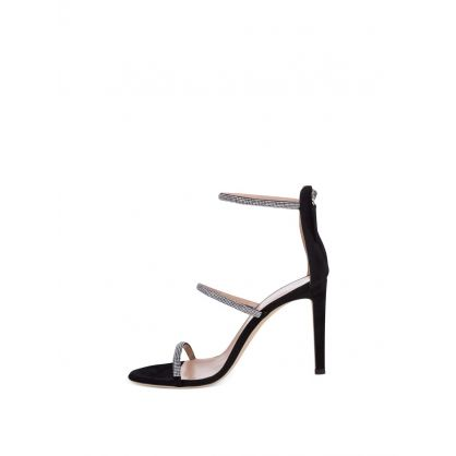 Black Harmony Strass Sandals