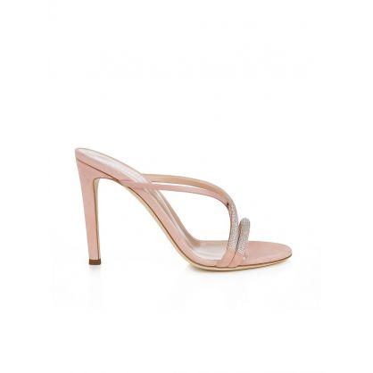 Pink Croisette Crystal Mule Sandals