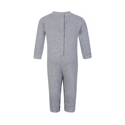 Baby  Grey Tiger Logo Romper Suit