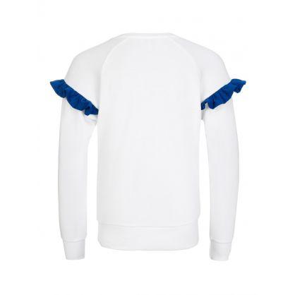 White Frill Sweatshirt
