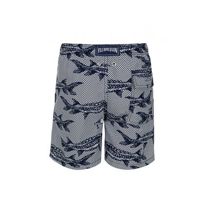 Junior Blue Fish Swim Shorts