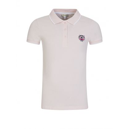 Pink Cotton Logo Polo Shirt
