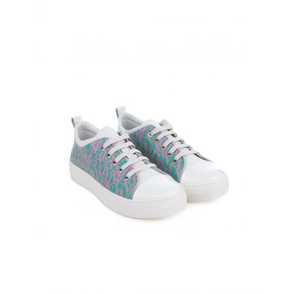 Kids White Logo Trainers