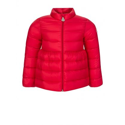 Red Down Filled Puffa Jacket