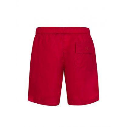 Red Logo Swim Shorts