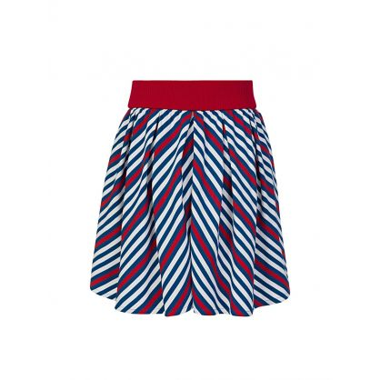 Blue/Red Striped Gonna Skirt