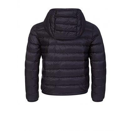 Navy Stripe Puffer Jacket