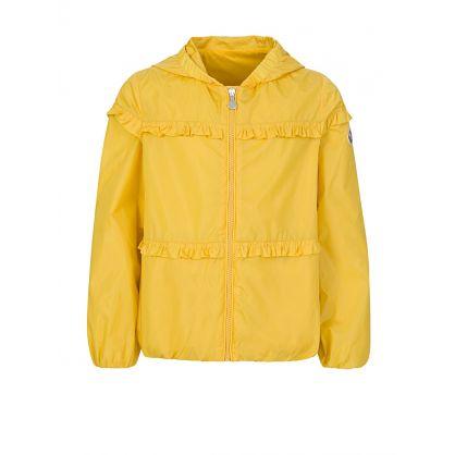 Yellow Hooded Ruffle Jacket