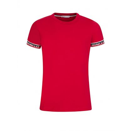 Red Pipped Logo T-Shirt