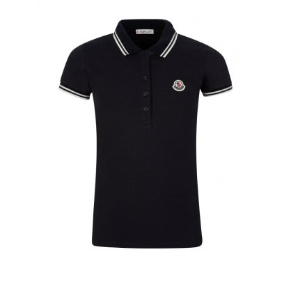 Navy Tip Logo Polo Shirt