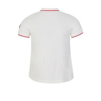 White Taped Polo Shirt