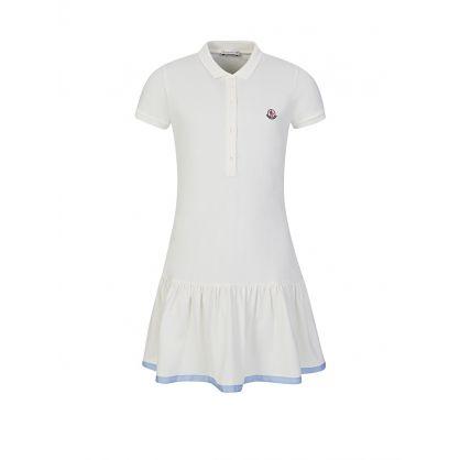 Cream Frilly Polo Dress