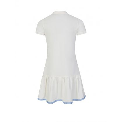Cream Frilly Polo Dress
