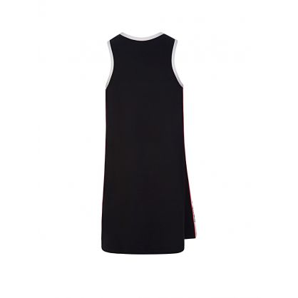 Black Logo Swim Dress