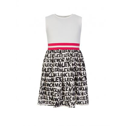 White Graffiti Dress