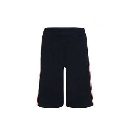 Navy Logo Jersey Shorts