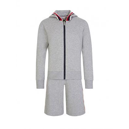 Grey Logo Jersey Shorts