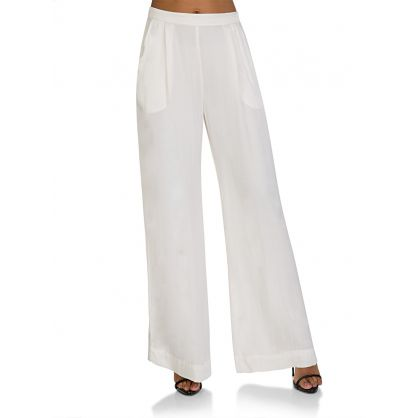 Cream Silk Trousers