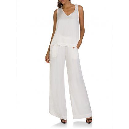 Cream Silk Trousers