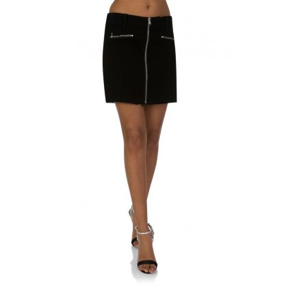 Vanished Black Moto Skirt