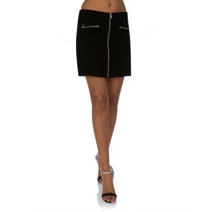 Vanished Black Moto Skirt