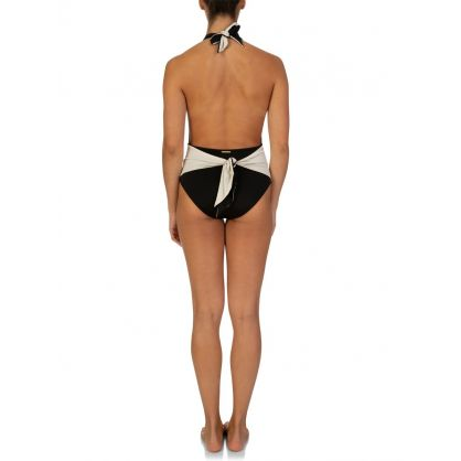 Black & Cream Ballet Swimwear