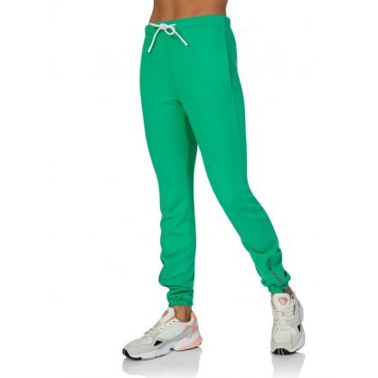 Green Milan Zip Sweatpants